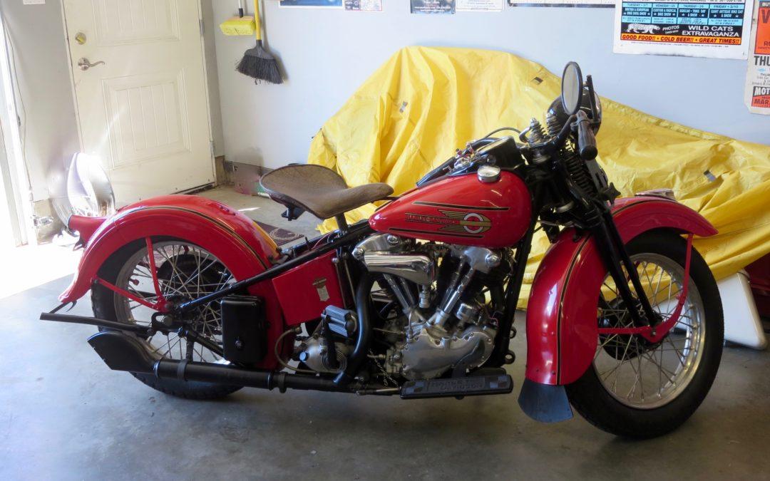 1937 EL Harley Davidson  Knucklehead  $75,000 US