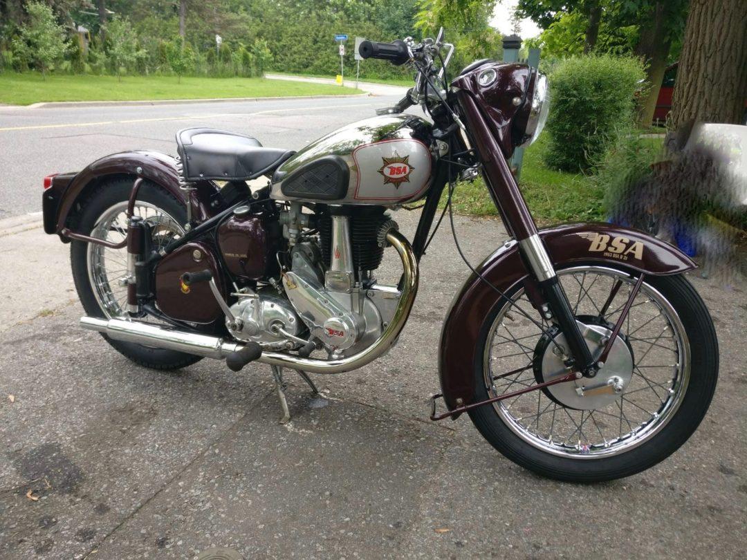 1952 BSA B31     $10,200 cad