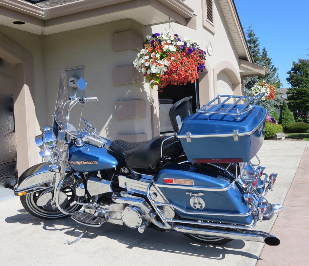 1979 Harley Davidson FLH 80 Ex-Shriner Drill Team Bike    $2000 price reduction , now $10,000cad