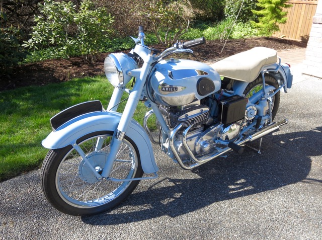 1953 Ariel SQ4 Model 4G 1000  Wedgewood Blue    $28,000