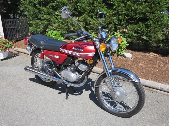1978 reg as 1979 Kawasaki  KH100 ET              $1800 cad