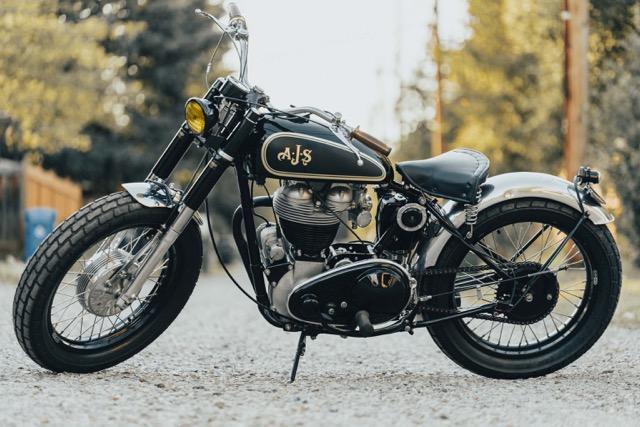 1947 AJS Flat Tracker Model 18 (500cc single)    $13,000