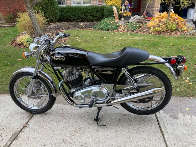 1971 Norton Commando 750 Roadster (reg as 72)    $ 14,800cad