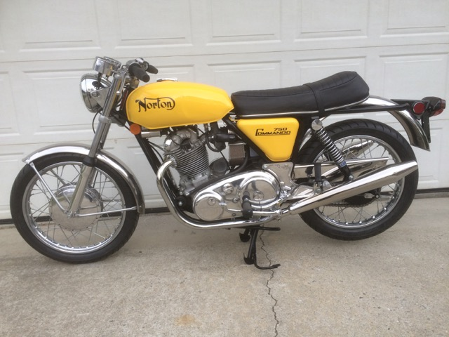 1971 Norton Commando 750cc Roadster            $13,500cad